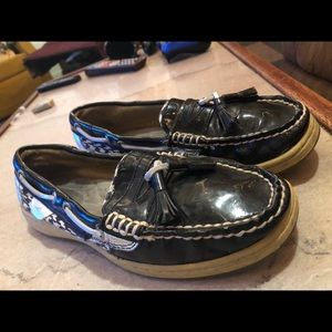 Sperry Top Sider Black Leather Loafers - Size 7